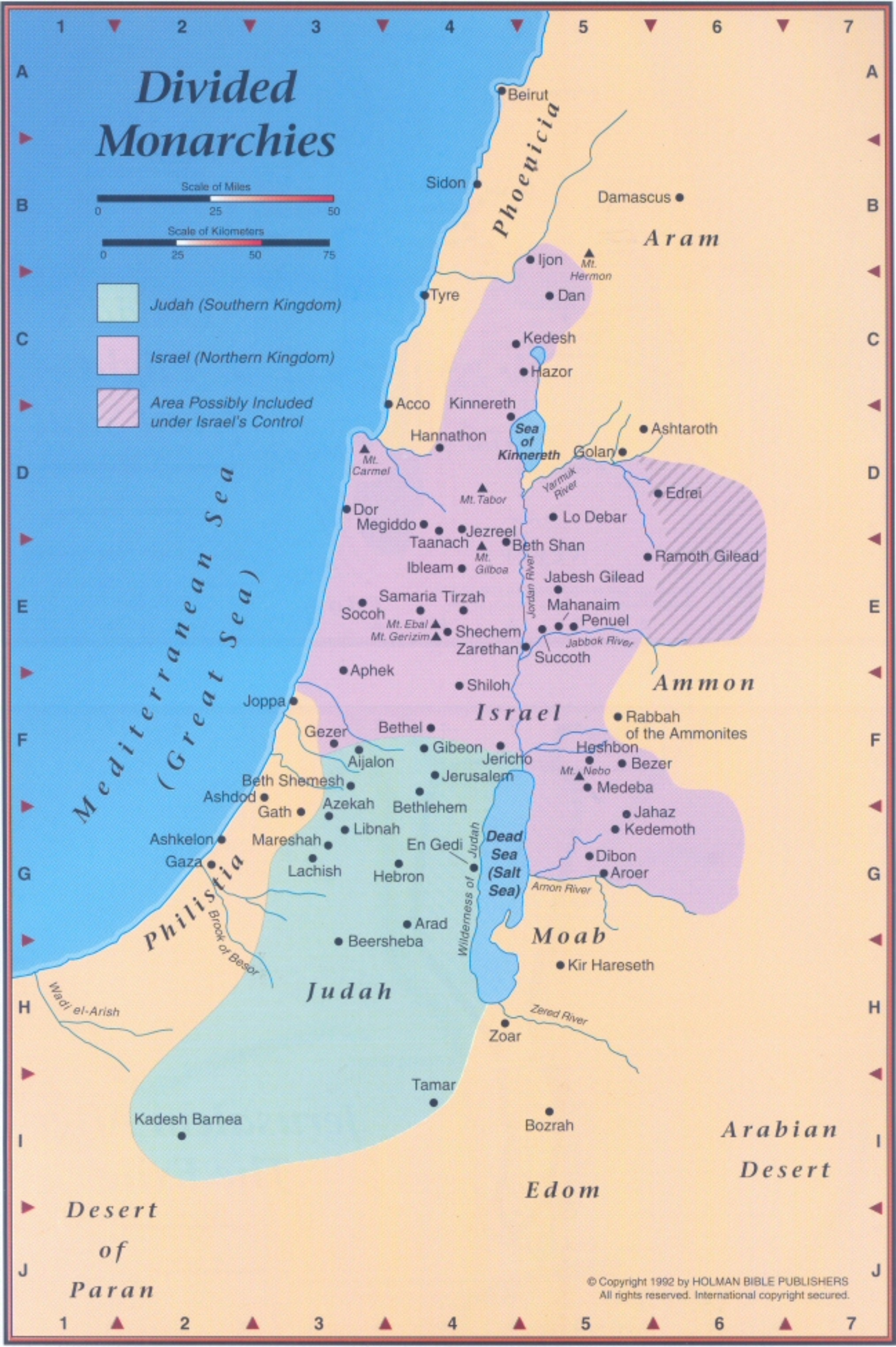 Map Divided Kingdom Israel Judah http://restlesspilgrim.net/blog/2012/03/15/arise-and-shine/