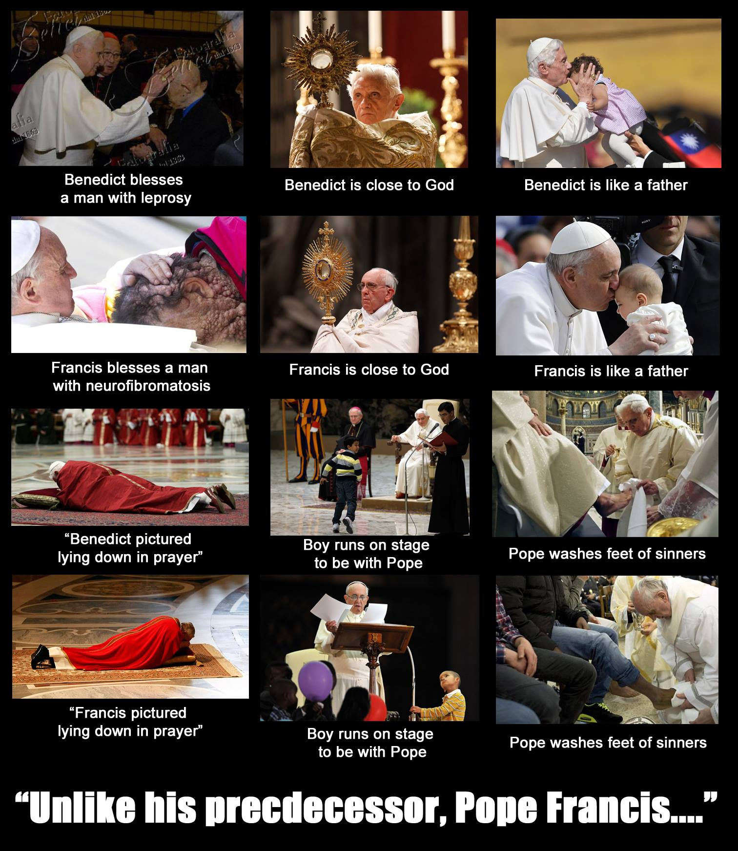 Pope benedict and pope francis comparison essay