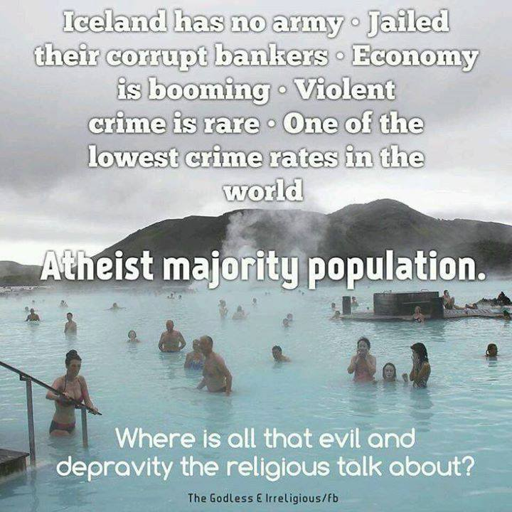 Iceland Atheism
